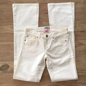 Lilly Pulitzer Palm Beach Fit IVORY Denim Jeans